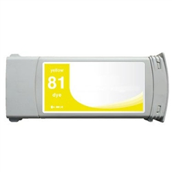 HP Compatible C4933A (#81) Yellow Ink Cartridge