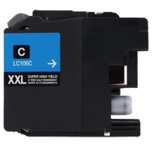 Brother LC105C Compatible Cyan Ink Cartridge