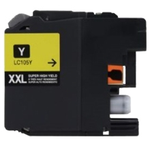 Brother LC105Y Compatible Yellow Ink cartridge