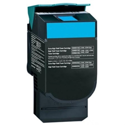 Lexmark C544C Compatible Hi Yield Cyan Laser Toner Cartridge