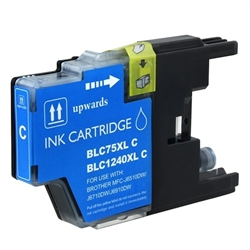 Brother Compatible Ink Cart LC75C Cyan
