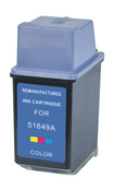 HP Remanufactured 51649A (No. 49) Tri-Color Ink Cartridge