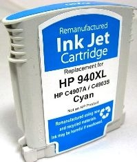 HP Remanufactured Ink Cart C4907AN, HP 940XL Cyan