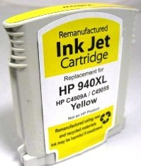 HP Remanufactured C4909AN HP 940XL Yellow Ink Cartridge