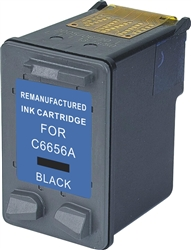 HP Remanufactured Ink Cart C6656 (No. 56) Black