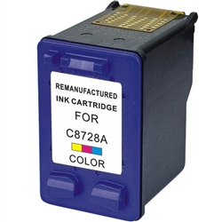 HP Remanufactured C8728A (No. 28) Color Ink Cartridge