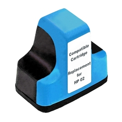 HP Remanufactured C8771WN, HP 02 Cyan Ink Cartridge