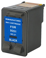 HP Remanufactured C9351AN (No. 21) Black Ink Cartridge