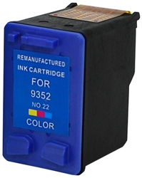 HP Remanufactured C9352AN (No. 22) Color Ink Cartridge