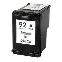 HP Remanufactured C9362W (No. 92) Black Ink Cartridge