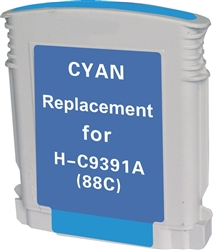 HP Remanufactured C9391AN (HP 88) Cyan Ink Cartridge