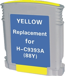 HP Remanufactured C9393AN (HP 88) Yellow Ink Cartridge