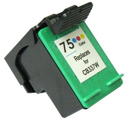 HP Remanufactured CB337WN (No. 75) Color Ink Cartridge