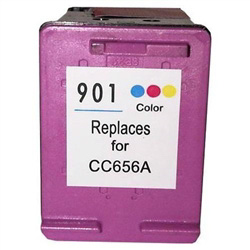 HP Remanufactured CC656AN (No. 901 Color) Color Ink Cartridge