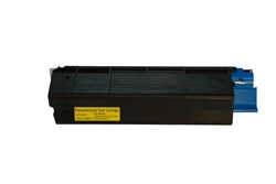 Okidata 42127401 Compatible High Yield Yellow Toner Cartridge