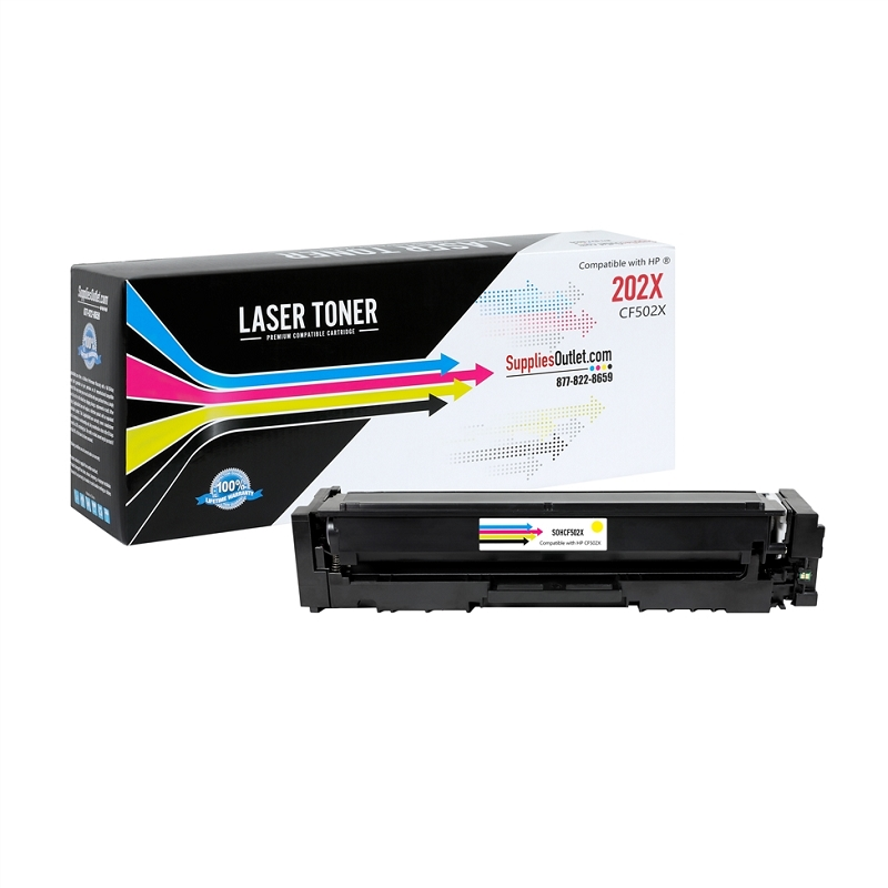 HP CF502X (HP 202X) Yellow Compatible Toner Cartridge