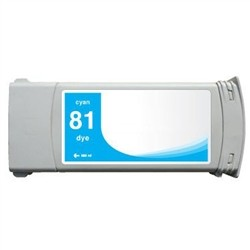HP Compatible Ink Cart C4931A (#81) Cyan