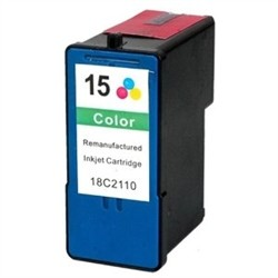 Lexmark 18C2110 (No. 15) Remanufactured Color Ink Cartridge