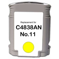 HP Remanufactured Ink Cart C4838AN, No. 11 Yellow Yellow