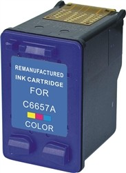 HP Remanufactured Ink Cart C6657 (No. 57) COLOR