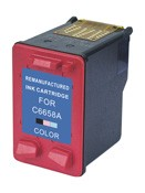HP Remanufactured Ink Cart C6658 (No. 58) Photo COLOR