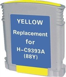 HP Remanufactured Ink Cart C9393AN/C9388AN No. 88XL Yellow Yellow