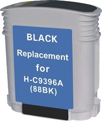 HP Remanufactured C9396AN (HP 88) Black Ink Cartridge